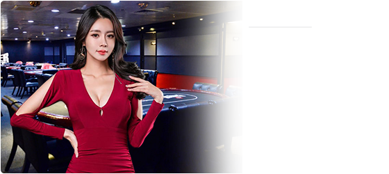 lady in red on casino background png