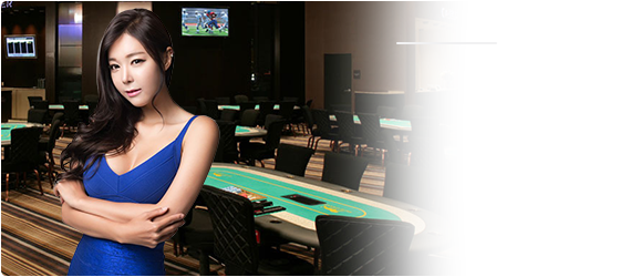 lady in blue on casino background png